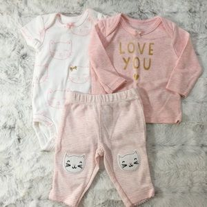 Carter's matching outfit size newborn NWOT